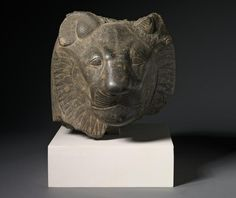 Head of Sekhmet, c. 1391-1353 BC Egypt, Presumably Thebes, New Kingdom, Dynasty 18, reign of Amenhotep III, 1391-1353 BC  granodiorite