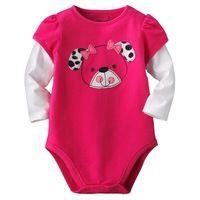 6 M ~ 24 M nuevo 2015 de calidad 100% peinado de algodón recién nacidos Baby Girls ropa ropa de una pieza mono monos niñas…
