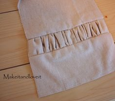 Gathered Flannel Scarf - could also make a table runner, table cloth...