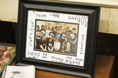 Each class signed a picture mat that we framed with a picture of the students and teachers.