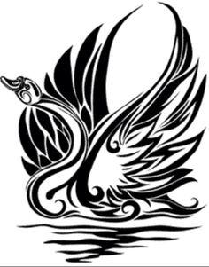 Tribal swan design