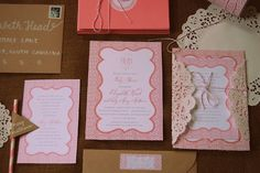 Rustic Pink Baby Shower Invitation