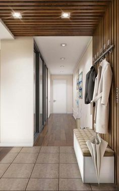 Some of you may still be confused and unfamiliar when you hear the mudroom room. The mudroom room is a storage room that has a dual function. Usually, this mudroom is used to store unused items whi… Design Entrée, Flur Design, Plafond Design, House Design, Design Ideas, Design Concepts, Hall Design, Entrance Foyer, Entrance Design