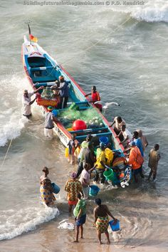 Fishing in Bakau, The Gambia, West Africa. Visit our website at http://buildingfuturesinthegambia.com/