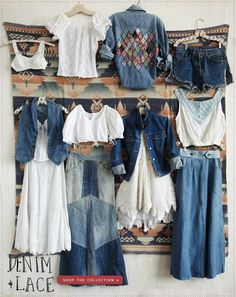 You can Always 'Do Something' with Denim! ( lovin' that lacy pixie-hemmed skirt!!!!!)