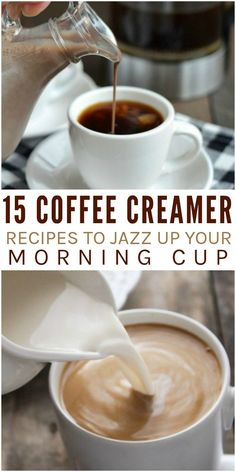 Coffee Creamer Recipes To Jazz Up Your Morning Cup - Add This Smores Coffee Creamer To Get The Flavors Of Marshmallow Chocolate And A Hint Of Graham Cracker To Your Drink With Only Three Ingredients You Can Make This Hazelnut Coffee Creamer Any Coffee Drinks, Coffee Cups, Coffee Coffee, Coffee Beans, Ninja Coffee, Fresh Coffee, Coffee Time, Coffee Maker, Frozen Coffee