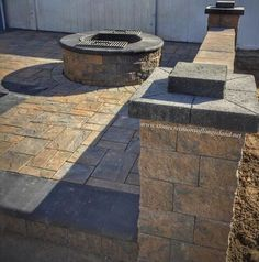 Light up the night with a Cambridge Pavingstones with ArmorTec Fire Pit Kit! Who would you invite over to your home to enjoy your fire pit? Installation: Stone Creations of Long Island