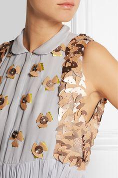DELPOZO|Embellished silk-georgette gown|NET-A-PORTER.COM