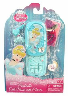 Disney Princess Cell Phone with Charms by CDI. $19.95. With the Disney Princess Cinderell Cell Phone your little girl can pretend to chat with her favorite Disney Princess and be fashionable