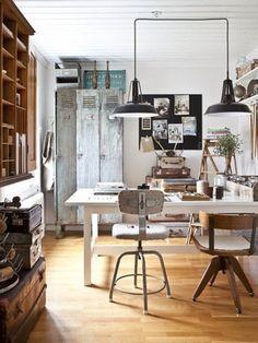 VINTAGE & CHIC: decoración vintage para tu casa · vintage home decor: Un estudio 100% escandinavo · A 100% scandinavian study