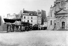 Place Sainte-Geneviève par Charles Marville (c.1870). Paris Transformers, Baron Haussmann, Grand Paris, Second Empire, Rive Gauche, Paris Ville, French Photographers, His Travel, Belle Epoque