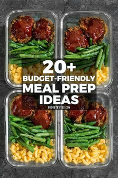20+ Budget friendly meal prep ideas to keep your taste buds happy, your belly full, and your budget on track! #mealplan #mealplanning #mealprep #easyrecipe #easydinner #easylunchboxes