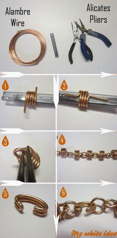 Si, lo reconozco, ¡me encantan los DIY con alambre! Para hacer este collar sólo se necesita alambre y alicates, nada más, bueno, un ...
