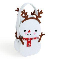 Snowman small felt bag