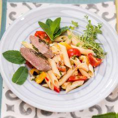 Pastasalat  Foto: Mona Lorenz Chili, Pasta Salat, Spaghetti, Mona, Penne, Fish, Noodles, Roast, Pasta Meals