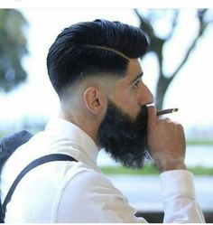 How-to Hairstyle Tutorial: - Undercut Comb Over with Volume and Hard Part Mens Hairstyles Fade, Popular Mens Hairstyles, Undercut Hairstyles, Hard Part Haircut, Fade Haircut, Cool Haircuts, Haircuts For Men, Long Hair Comb Over, Hair Styles 2016