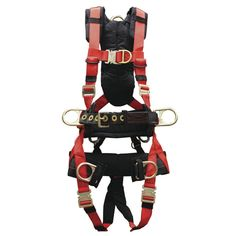 Elk River 68602 Pinnacle Polyester/Nylon Tower 6 D-Ring Harness with Quick-Connect Chest, Medium Tower Climber, Elk River, 6 D, Tool Belt, Body Systems, Safety And Security, Survival Gear, Climbing, Connect