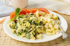 Egg White Feta & Spinach Scramble #Recipe | via @SparkPeople #eggs #breakfast