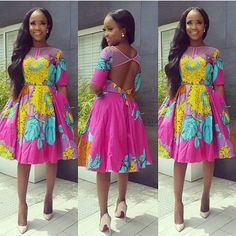Ankara Styles Beautiful Short Gown - DeZango Fashion Zone