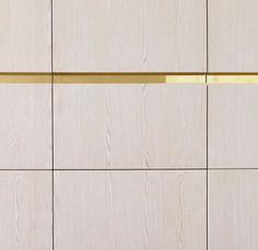 Brass inlay handle detail - robe