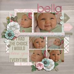 275142476978268489766 Baby scrapbook page layout