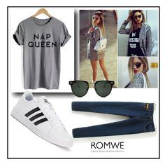 """""""ROMWE CONTEST"""" by nura-akane ❤ liked on Polyvore featuring adidas and Spitfire"""