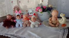 Mini dolls, fofoletes, bonecas antigas de massa e baquelite.