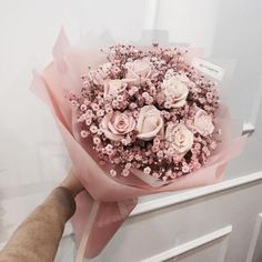 Luxury flowers pink roses bouquet aesthetic beauty style - To Beauty Bunch Of Flowers, My Flower, Beautiful Flowers, Beautiful Bouquets, The Most Beautiful Girl, Stunningly Beautiful, Beautiful Moments, Pink Rose Bouquet, Pink Roses
