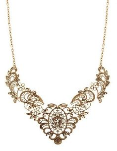 Hollowed-Out Delicate Design Necklace, starting at $5 in the Jewelry auction happening now! #BidOnTophatter