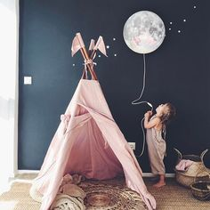 To the Moon and back Numero74 Teepee in Dusty Pink