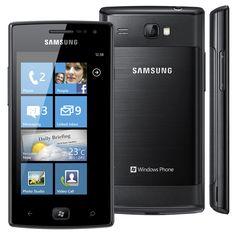 Celular Desbloqueado Samsung Omnia W com Processador de 1.4GHz, Tela de 3.7'', Windows Phone, Bluetooth, Wi-Fi, 3G, GPS, Câmera 5MP, MP3 e Rádio FM - Celulares Desbloqueados no Pontofrio.com