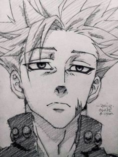 Read >Nanatsu no taizai< from the story Anime images uwu by (¡(SpIcE iT uP)! Anime Character Drawing, Manga Drawing, Manga Art, Anime Art, Drawing Faces, Drawing Tips, Otaku Anime, Anime Guys, Naruto Drawings