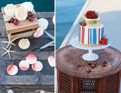 Red, White and Blue Wedding Ideas - Nautical Red, White, & Blue Wedding on the Dock - Inspired By This