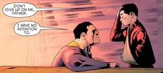 "Bruce and Damian Wayne (""Batman & Robin"" = one of the best comic series published right now)"