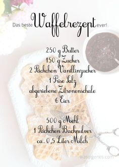 Rezept: Das beste Waffelrezept ever! - Rezept: Das beste Waffelrezept ever! Rezept: Das beste Waffelrezept ever Best Waffle Recipe, Waffle Recipes, Baking Recipes, Bread Recipes, Cake Recipes, Chicken Recipes, No Bake Desserts, Dessert Recipes, Baking Desserts