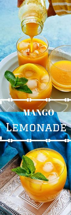 Try this perfect Mango Lemonade for a refreshing drink this Summer ! A must try recipe recommended for all, who love mangoes and a hint of lemon.