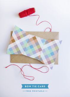 Printable Father's Day Bow Tie Card by @Jordan Ferney | Oh Happy Day!