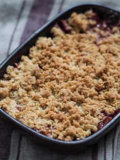 Oatmeal Crumble Topping, Fruit Crumble, Sweet Recipes, Cake Recipes, Healthy Recipes, A Food, Food And Drink, Compote Recipe