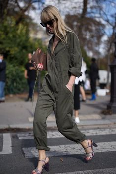 Try cargo and relaxed for a stylish jumpsuit look. | Jumpsuits are Back! Shop the Best Comfy Jumpsuits for Your Body Today