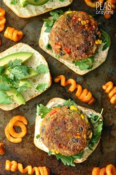 Homemade Mexican Veggie Burgers with Taco Aioli