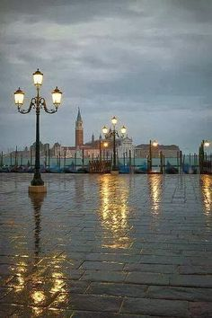 Venice, Italy in The Rain