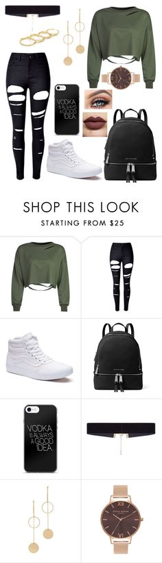 """Untitled #391"" by xxjamiexxx on Polyvore featuring WithChic, Vans, MICHAEL Michael Kors, 8 Other Reasons, Cloverpost, Olivia Burton, Fallon and Kylie Cosmetics"