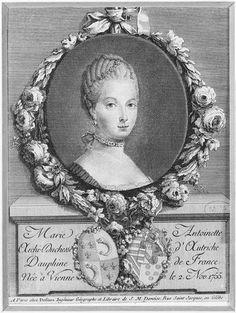 Marie Antoinette, dauphine of France. 18th century.[credit: © RMN-Grand Palais (Château de Versailles) / image RMN-GP]