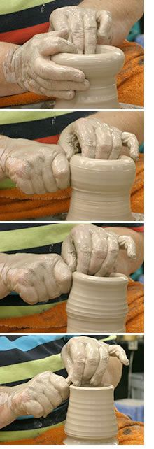 Learn how to make wheel-thrown pottery