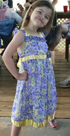 my run way model, Marli Rose Hartnett, Aug. 11, 2008, Easter she was showing us how to do the Cat Walk! she's so funny