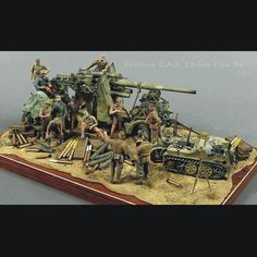 German D.K 88 mm Flak 36 Unknown Modeler From: Airbrush / Aerógrafo Military Figures, Military Art, Afrika Corps, Model Tanks, Military Modelling, Toy Soldiers, Model Building, War Machine, Tamiya