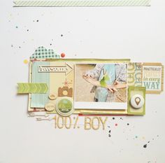 100% Boy layout by monika glod - Two Peas in a Bucket