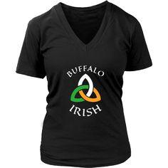 """Saint Patrick's Day - """" Buffalo Irish Parade """" - custom made  funny t-shirts."""