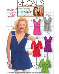 Misses TUNIC & TOP Sewing Pattern  Tunics Tops in por patterns4you
