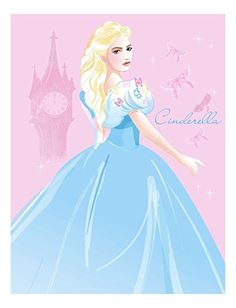 Disney Newest Live Action Cinderella Transformed Throw 46 by 60Inch * You can get additional details at the image link.